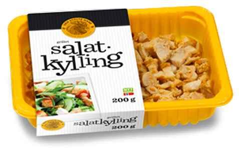 Bilde av Den stolte hane grillet salatkylling.
