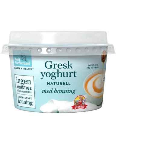 Bilde av Synnøve gresk yoghurt naturell med honning.