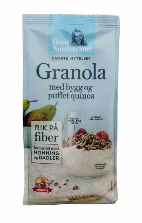 Bilde av Synnøve granola med bygg og puffet quinoa.