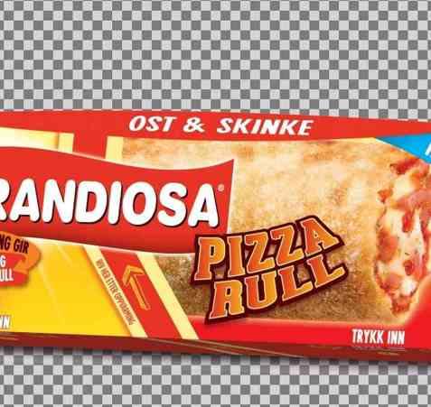 Bilde av Grandiosa pizzarull ost og skinke.