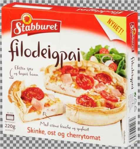 Bilde av Stabburet filodeigpai ost og skinke.