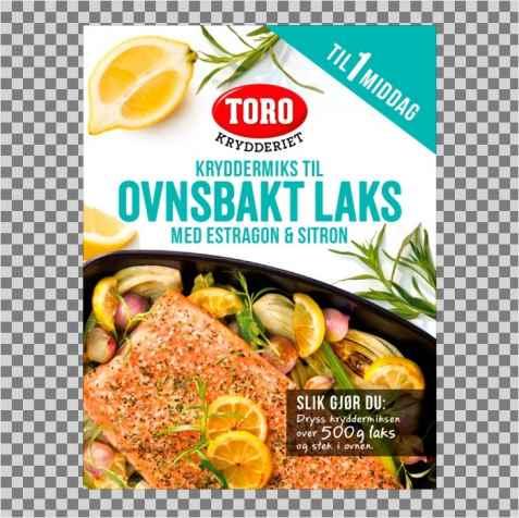 Bilde av Toro krydder ovnsbakt laks.
