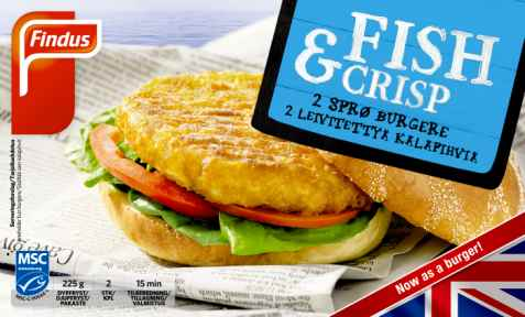 Bilde av Findus Fish & Crisp burger.