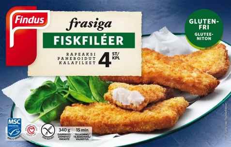 Bilde av Findus frasiga fiskfileter.