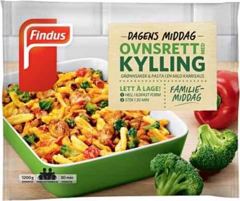 Bilde av Findus ovnsrett med kylling.