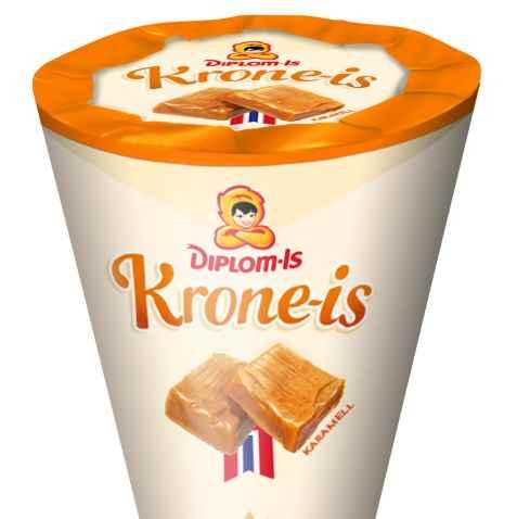Bilde av Diplom Krone Is Karamell.