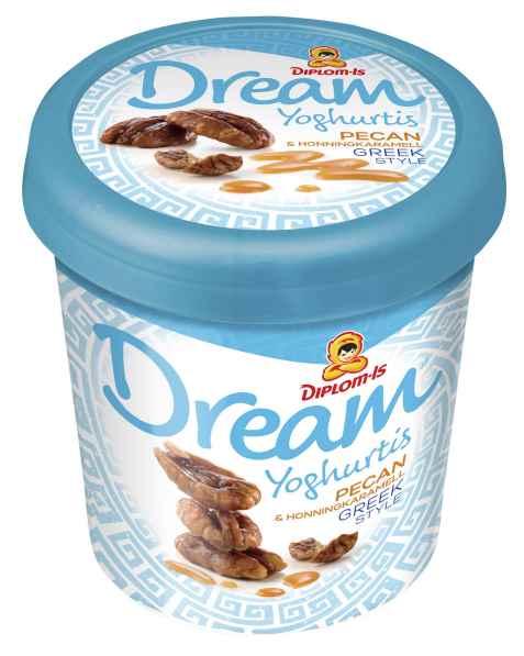 Bilde av Diplom Dream greek style pecan og honningkaramell.