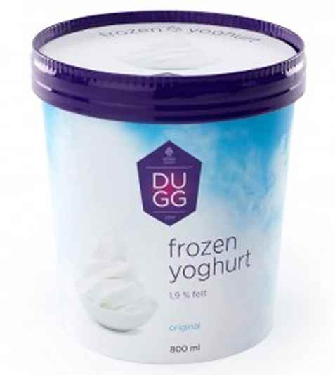 Bilde av Hennig Olsen Dugg Frozen Yoghurt original.