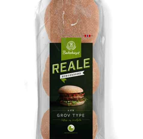 Bilde av Bakehuset reale grove hamburgerbrød.