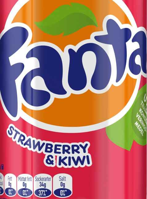 Bilde av Fanta Strawberry and Kiwi.