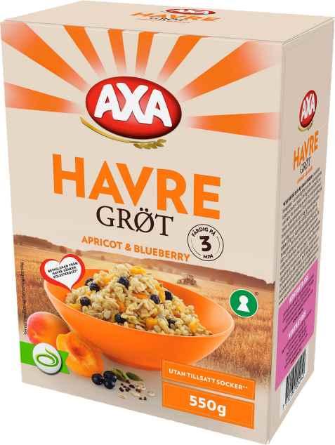 Bilde av Axa Havregrøt Aprikos & Blåbær.