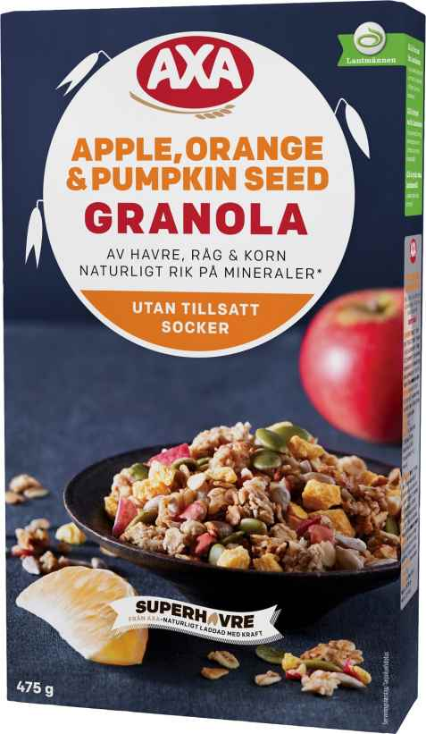 Bilde av Axa granola apple orange and pumpkin seed.