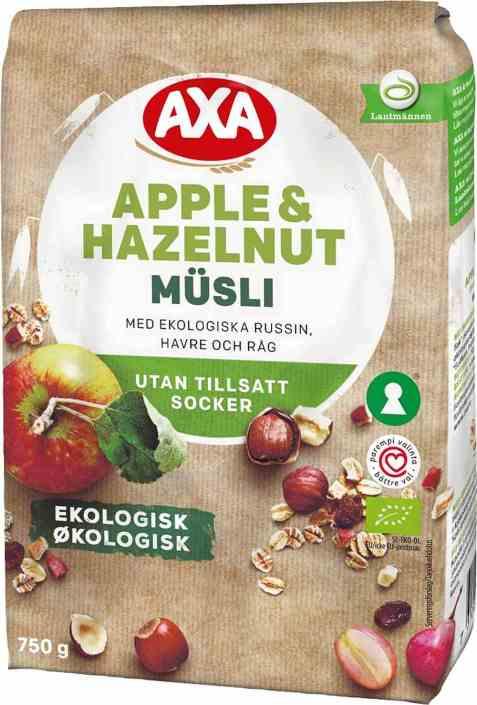 Bilde av Axa musli økologisk frukt og nøtter.