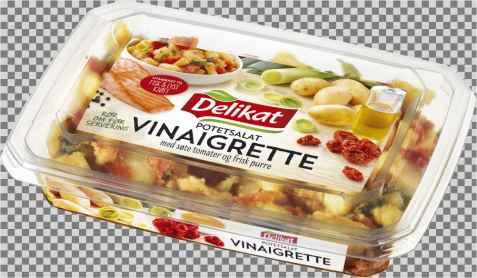 Bilde av Delikat potetsalat vinaigrette.