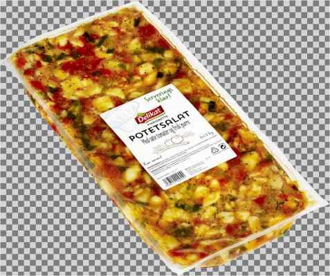 Bilde av Delikat Potetsalat i vinaigrette med tomat og purre.
