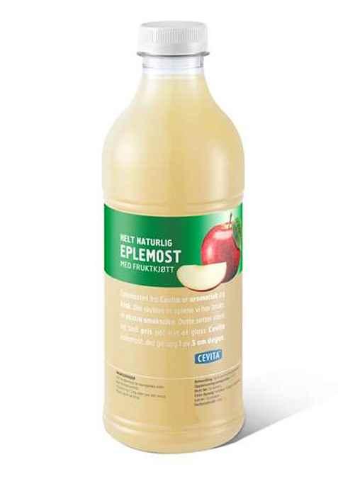 Bilde av Cevita helt naturlig eplemost med fruktkjøtt.