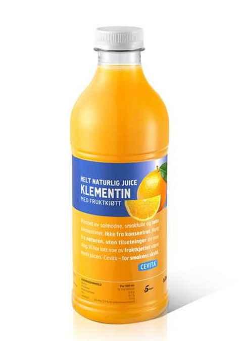 Bilde av Cevita helt naturlig klementin med fruktkjøtt.