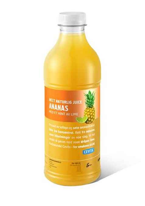 Bilde av Cevita helt naturlig ananas med et hint av lime.