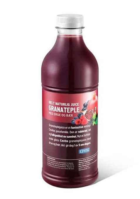 Bilde av Cevita helt naturlig granateple med drue og bær.