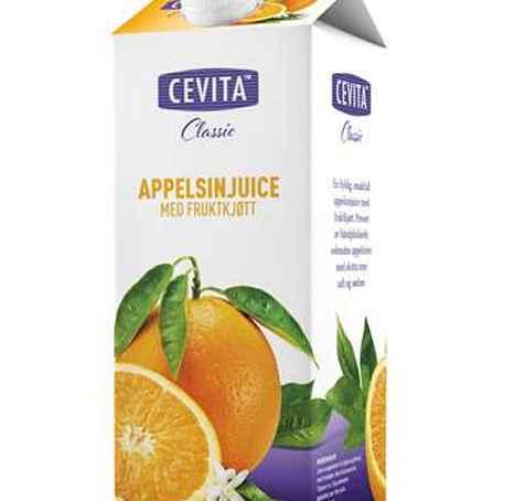 Bilde av Cevita classic appelsinjuice med fruktkjøtt.
