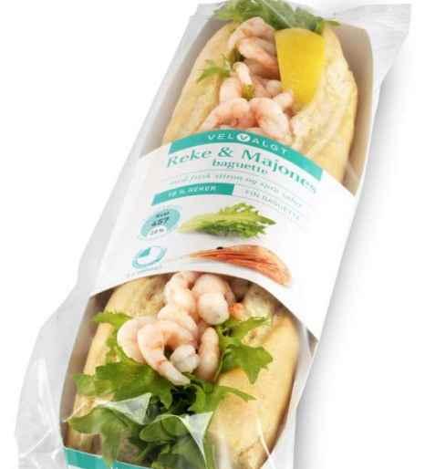 Bilde av Bama VelValgt baguette med reker og majones.