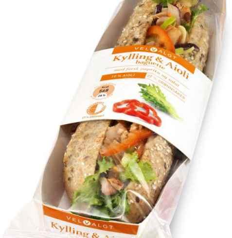 Bilde av Bama VelValgt baguette med kylling og aioli.