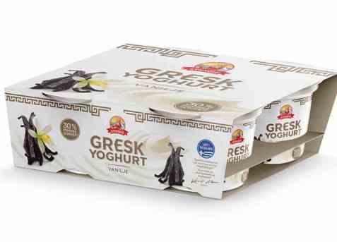 Bilde av Synnøve gresk yoghurt vanilje multipack.