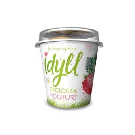 Bilde av Synnøve Idyll økologisk yoghurt jordbær.