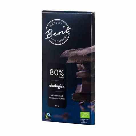 Bilde av Synnøve mørk sjokolade 80 prosent kakao.