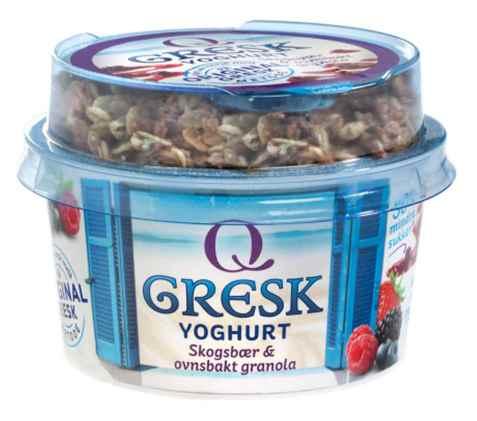 Bilde av Q gresk yoghurt skogsbær og granola.