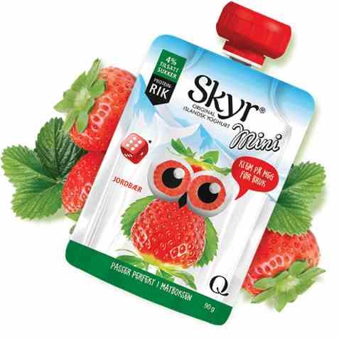 Bilde av Q skyr mini jordbær.