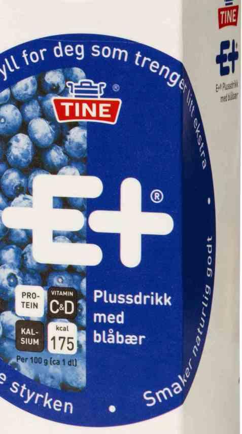 Bilde av Tine E+ drikk blåbær.