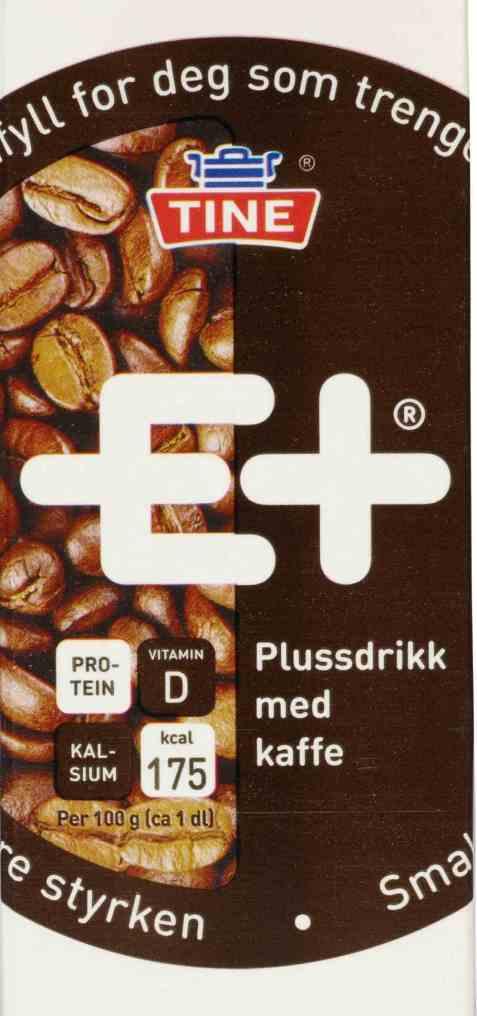 Bilde av Tine E+ drikk kaffe.