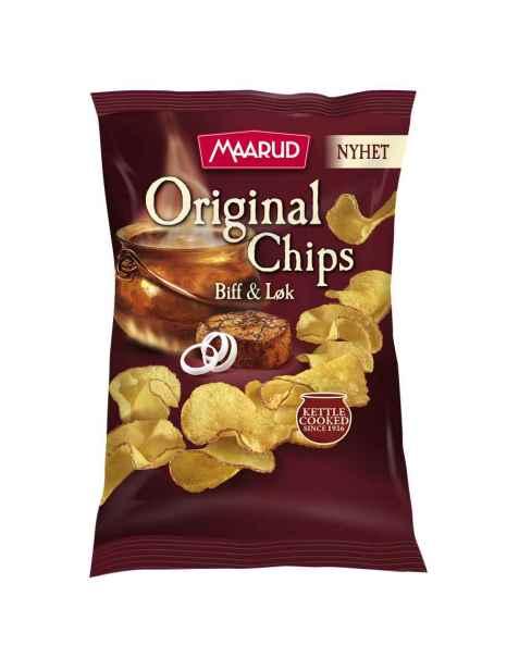 Bilde av Maarud original chips biff og løk.