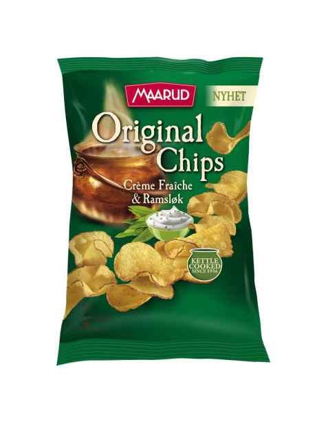Bilde av Maarud original chips creme fraiche og ramsløk.