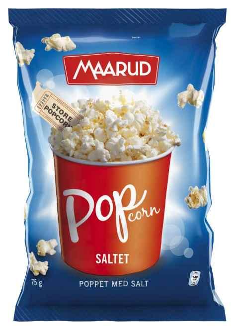 Bilde av Maarud poppet popcorn med salt.