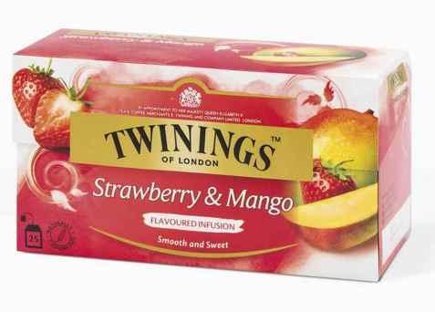 Bilde av Twinings Jordbær & Mango Te.