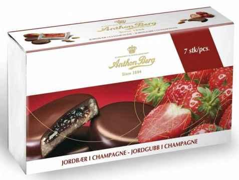 Bilde av Anthon Berg Jordbær i Champagne.