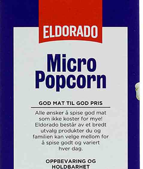 Bilde av Eldorado micropopcorn usaltet.