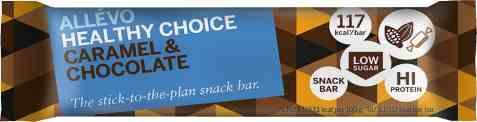 Bilde av Allevo Healthy Choice Raw Bar Caramel Flavor & Chocolate.