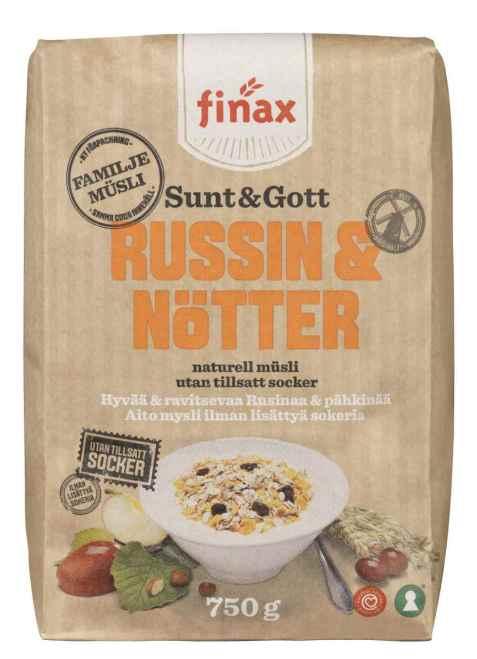 Bilde av Finax sunt og gott russin og nøtter.