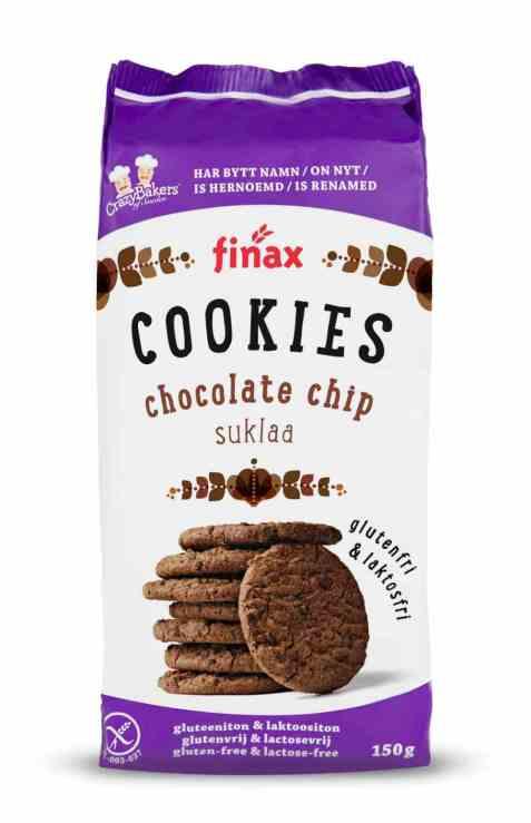 Bilde av Finax glutenfri chocolate chip cookies.