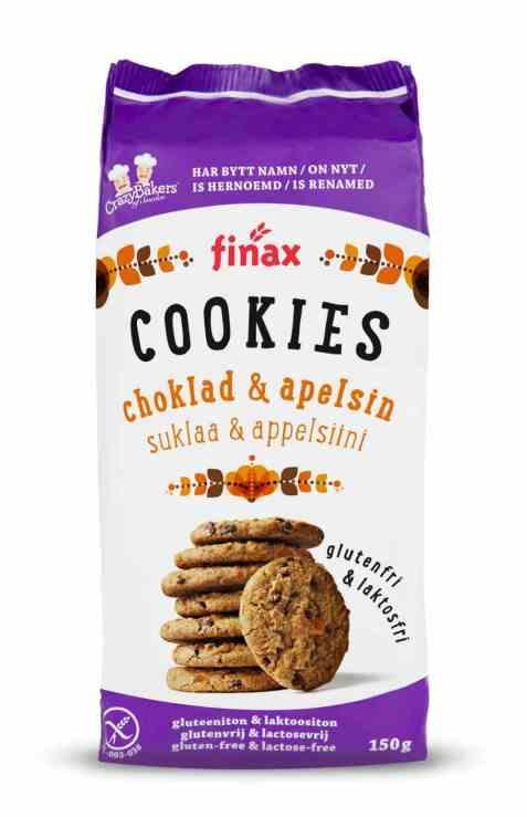Bilde av Finax glutenfri choklad og appelsin cookies.