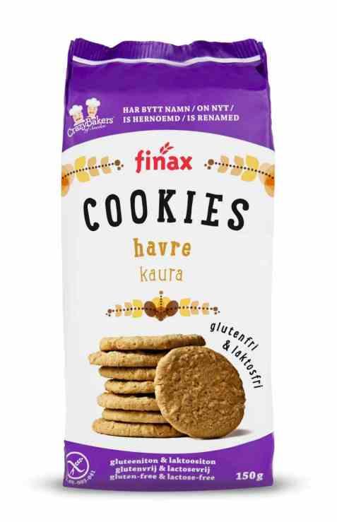 Bilde av Finax glutenfri havre cookies.