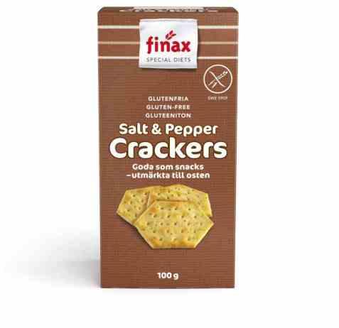 Bilde av Finax Glutenfria salt og pepper crackers.