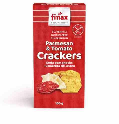 Bilde av Finax Glutenfria parmesan og tomato crackers.