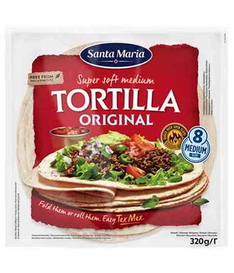 Bilde av Santa Maria tortilla soft medium.