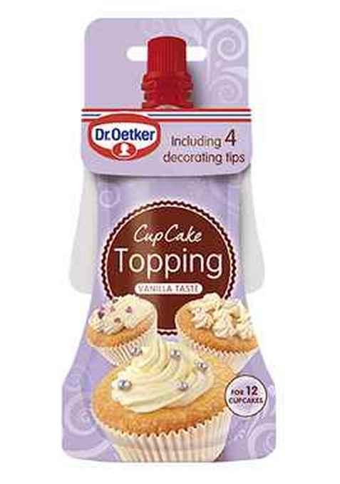 Bilde av DrOetker Cupcake Topping med vaniljesmak.