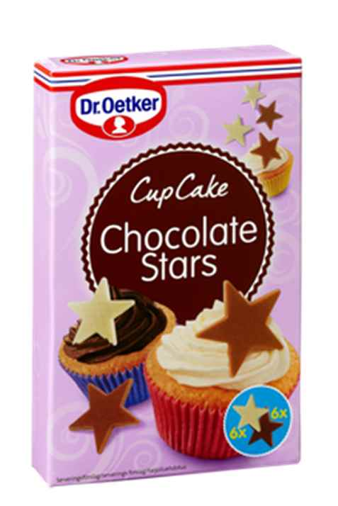 Bilde av DrOetker Cupcake Chocolate Stars.