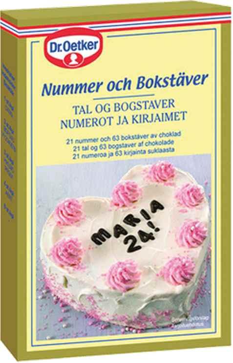 Bilde av DrOetker Sjokoladebokstaver og-tall.